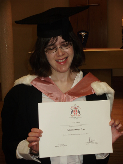 Laura achieved an impressive 2:1 degree in 2010