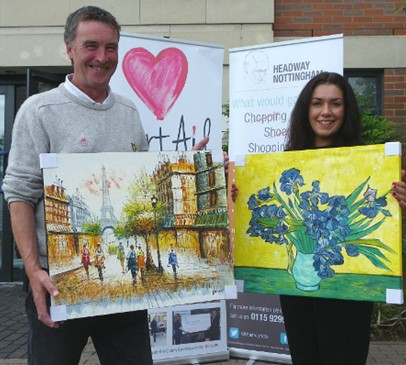 Art in the right place for Headway Nottingham Main Image
