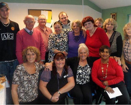 Volunteers and staff in Headway's Leigh charity shop