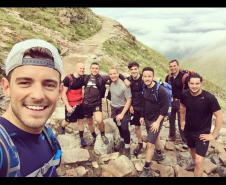 Dan Oscroft and his friends take on the Three Peaks Challenge for Headway