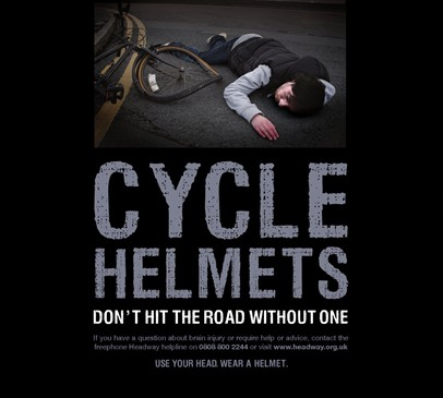 Headway welcomes findings of cycle helmet study Main Image