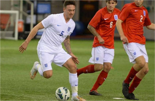 Jack in action for the England senior squad