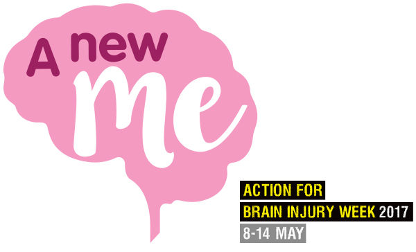 Our two campaign logos read: 'A new me' and 'Action for Brain Injury Week 2017 8-14 May'
