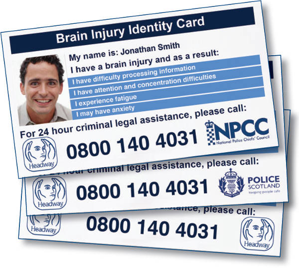 The Headway Brain Injury Identity Card is supported by the NPCC, Police Scotland and the Police Service of Northern Ireland