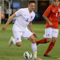 Jack Rutter playing for the England CP Football team
