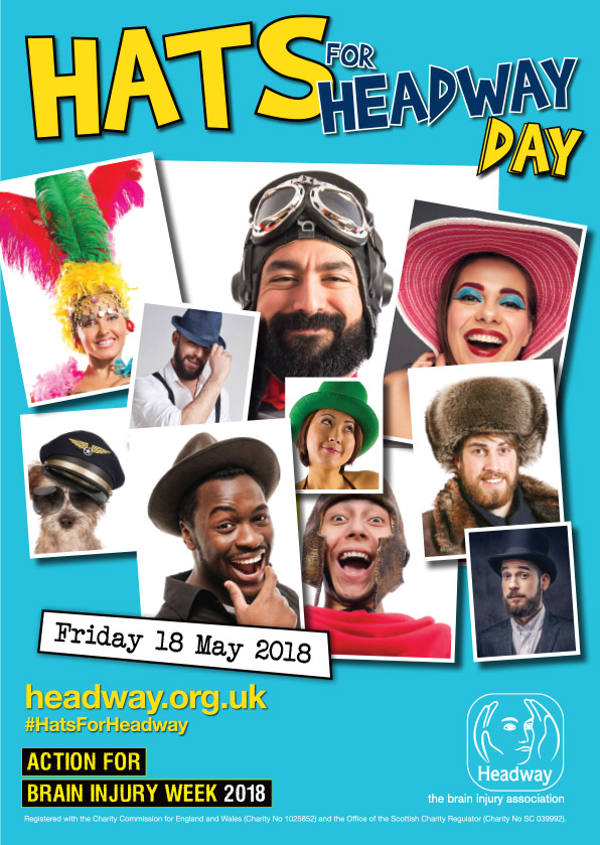 Hats for Headway Day takes place on Friday 18 May 2018