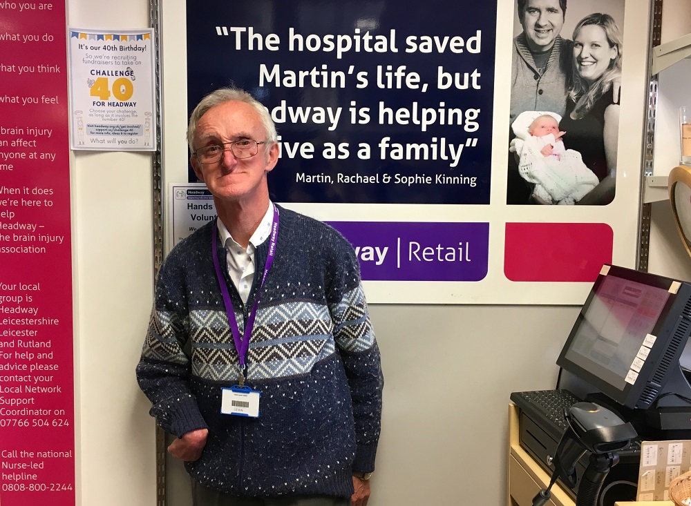 Headway's Hinckley Shop volunteer, Sean